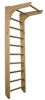 Компактная деревянная шведская стенка с турником SportBaby Kinder 1-220 Коричневая (Kinder 1-220)