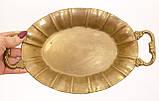 Старая бронзовая тарелка, овальное блюдо, конфетница, бронза Германия, фото 3