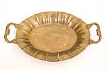Старая бронзовая тарелка, овальное блюдо, конфетница, бронза Германия, фото 4