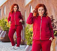 Спортивный костюм женский весенний двунить батал 50 52 54 56 размер Новинка 2020 есть цвета