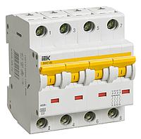 Автоматический выключатель ВА 47-60 4Р  6А 6 кА  х-ка D IEK (MVA41-4-006-D)