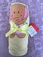 """Теплый детский плед из велюра с вышивкой """"bobobaby"""""""