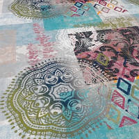 Мебельная ткань принт Непал 6390 (Турция), фото 1