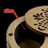 Дерев'яна мусорничка-скринька для обрізків ниток FLZB(N)-013, фото 3