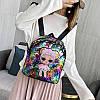 Детский рюкзак с куклой Лол с пайетками, фото 7