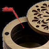 Дерев'яна мусорничка-скринька для обрізків ниток FLZB(N)-012, фото 2