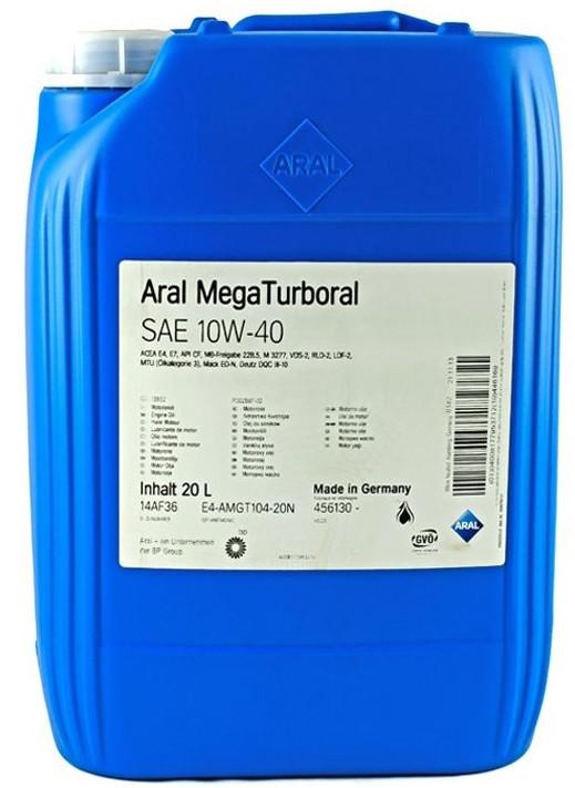Моторное масло Aral MegaTurboral 10W-40 20 л