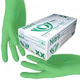 Перчатки НИТРИЛОВЫЕ (цвета в ассортименте) нестерильные неопудренные (1 пара), размер М, фото 4