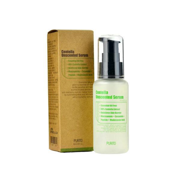 Сывороткас центеллой для чувствительной кожи PuritoCentella Unscented Serum 60 мл Корея