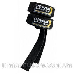 Power System Лямки для тяги Power Straps PS-3400 Black/Yellow