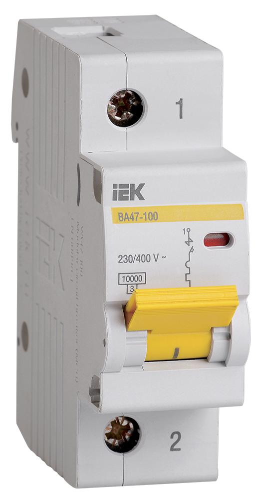 Автоматический выключатель ВА 47-100 1Р  35А 10 кА  х-ка C IEK (MVA40-1-035-C)