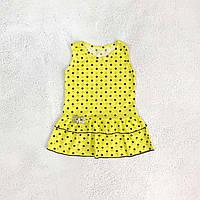 """Сарафан для девочки """"Горошек"""", цвет: желтый"""