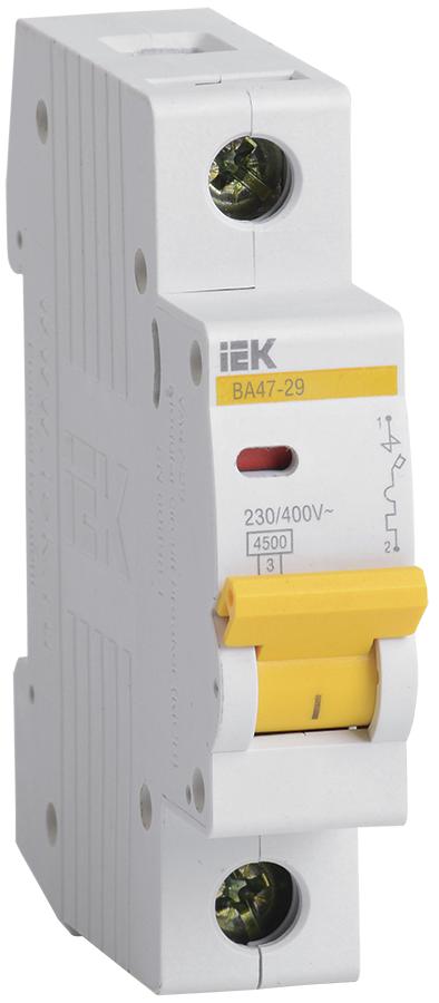 Автоматический выключатель ВА47-29 1P  1A 4,5кА х-ка D IEK (MVA20-1-001-D)