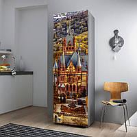"""Виниловая наклейка на холодильник.""""Замок Германии"""", фото 1"""