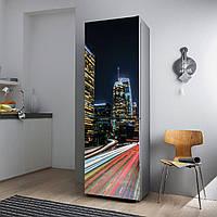 """Виниловая наклейка на холодильник.""""Ночной Лос-Анжелес"""", фото 1"""