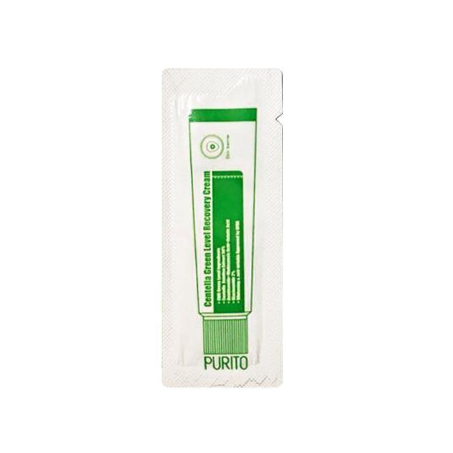 Пробник успокаивающий крем ДЛЯ ЛИЦА с центеллой Purito Centella Green Level Recovery Cream Пурито 1мл
