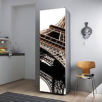 """Виниловая наклейка на холодильник.""""Эйфелева башня"""""""