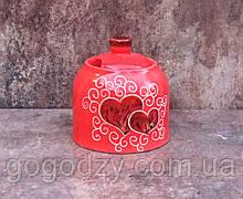 Цукерничка декор Серце червона