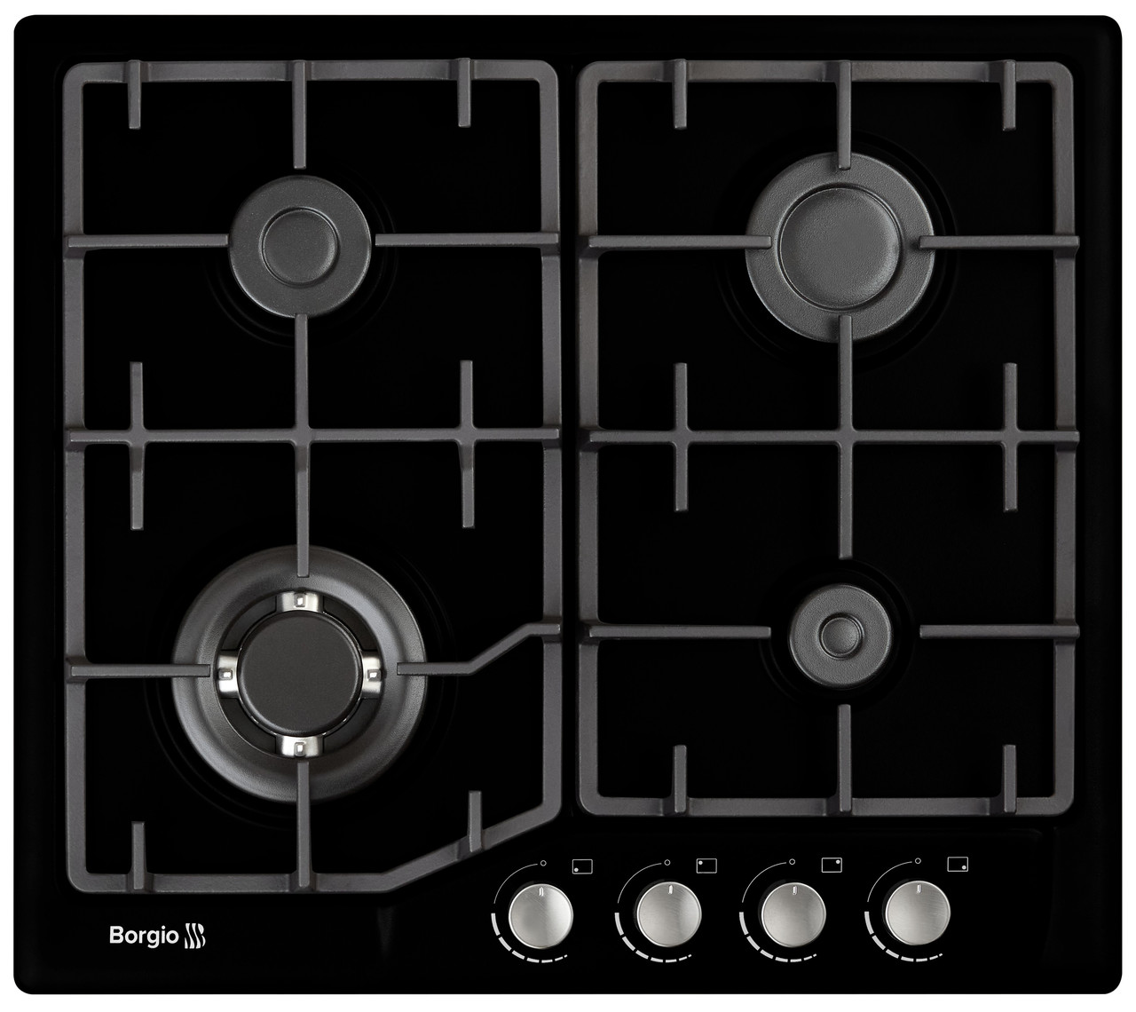 Варочная поверхность газовая BORGIO 6742-17 (Black Enamelled)