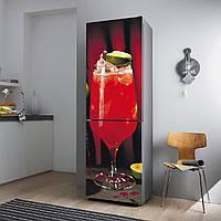 """Виниловая наклейка на холодильник.""""Красный коктейль"""""""