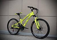 """Подростковый горный велосипед Oskar 24""""FLAME желтый"""