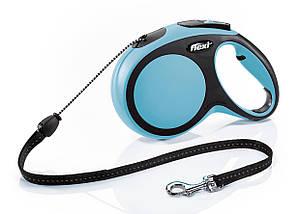 Рулетка FLEXI New Comfort М, 8м, до 20кг, шнур, синяя (9107)