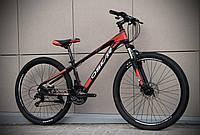 """Подростковый горный велосипед OSKAR 26""""Piranha черно-красный"""