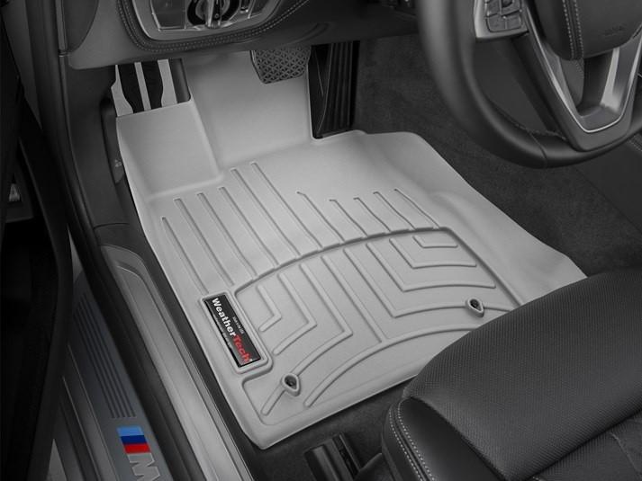 Ковры резиновые WeatherTech BMW 7 (G11/G12) 15+ передние (станд. база) серые