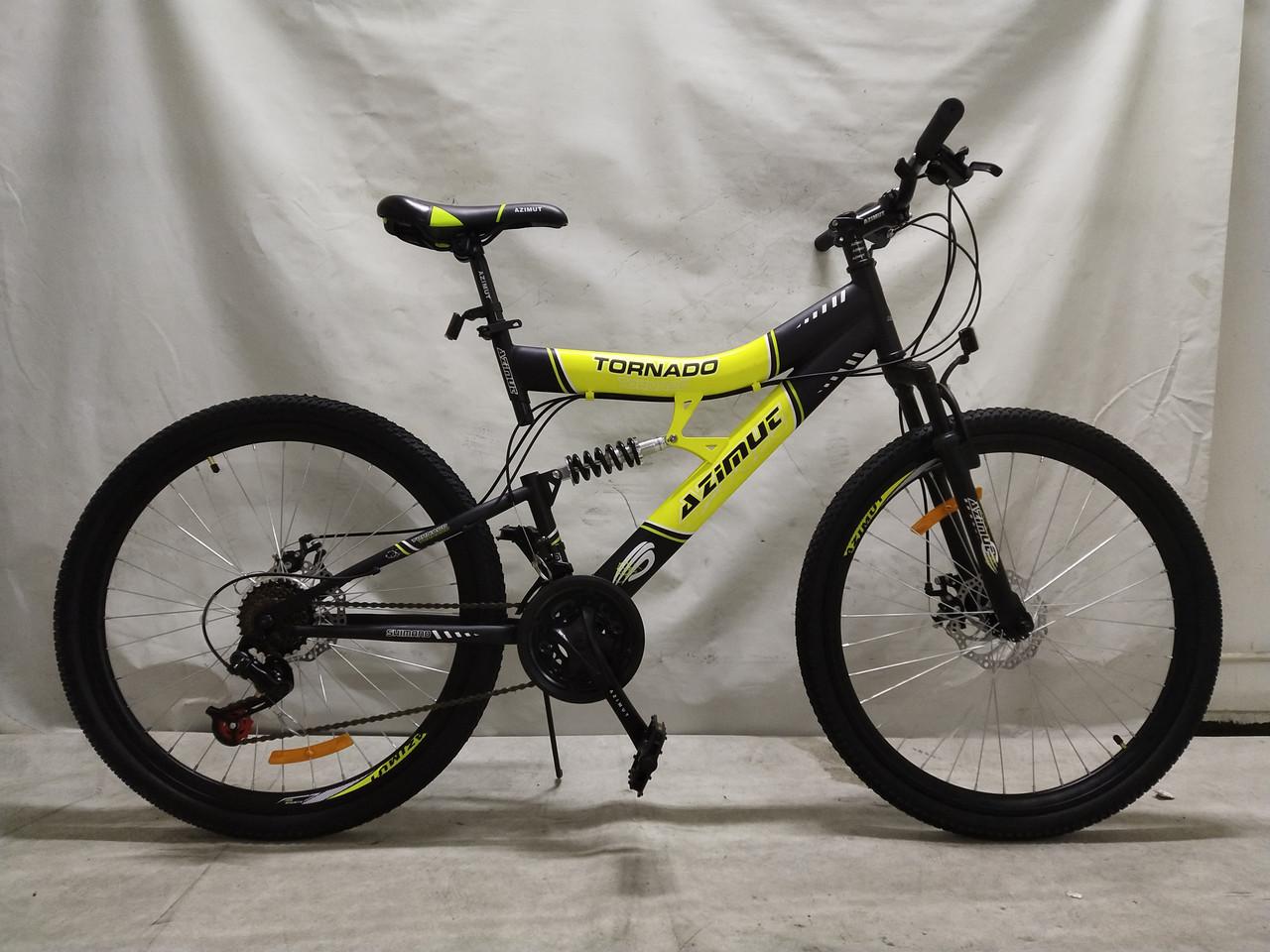 Подростковый двухподвесной велосипед 24 дюйма 17 рама Tornado Азимут