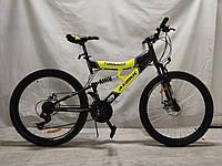 Подростковый двухподвесной велосипед 24 дюйма 17 рама Tornado Азимут, фото 1