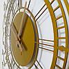 """Годинники настінні металеві """"Elite Gold"""" 70 см, фото 4"""