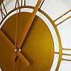 """Годинники настінні металеві """"Elite Gold"""" 70 см, фото 3"""