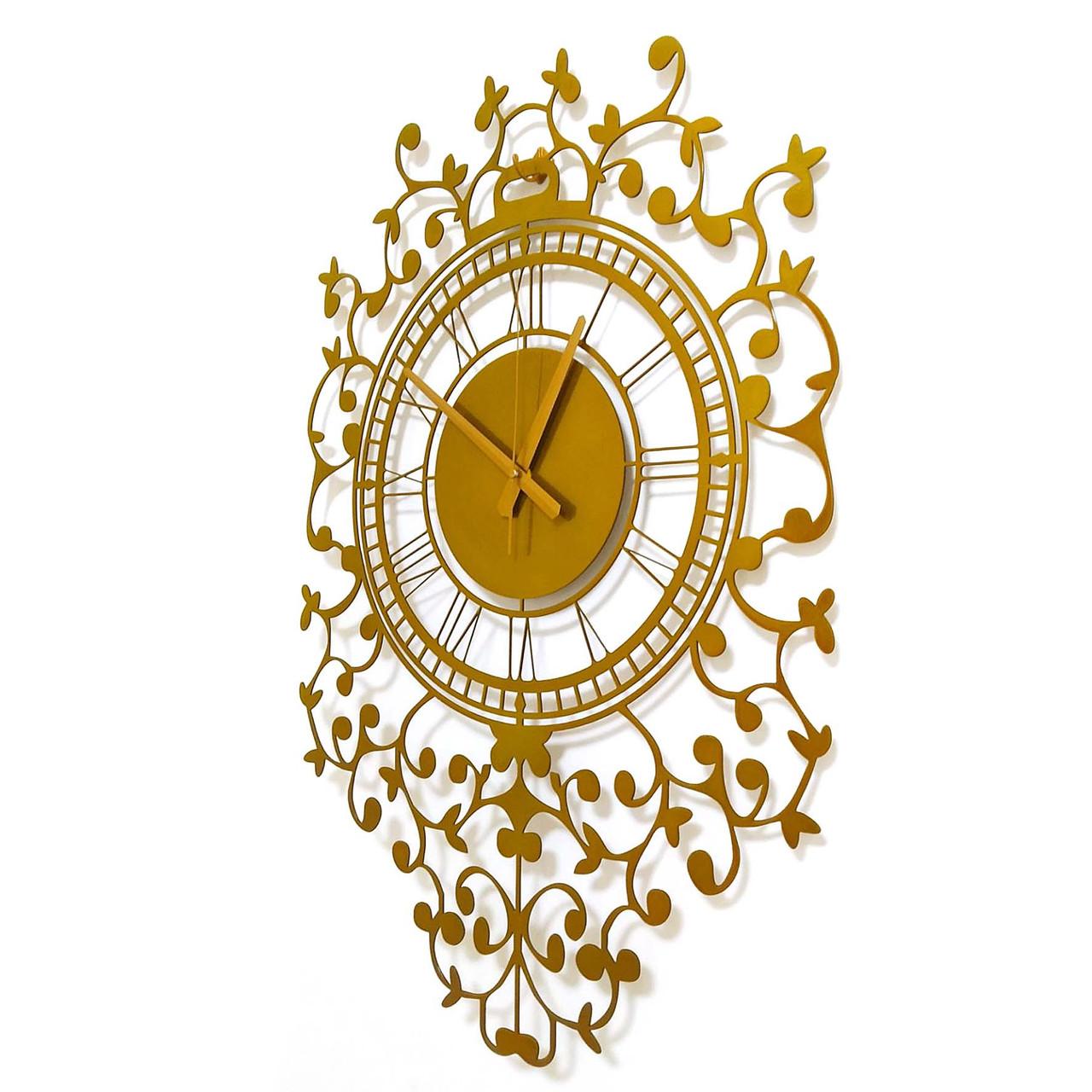 """Годинники настінні металеві """"Elite Gold"""" 70 см"""
