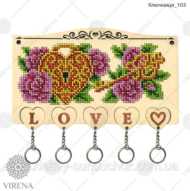 Ключниця під вишивку бісером чи хрестиком Ключниця-103