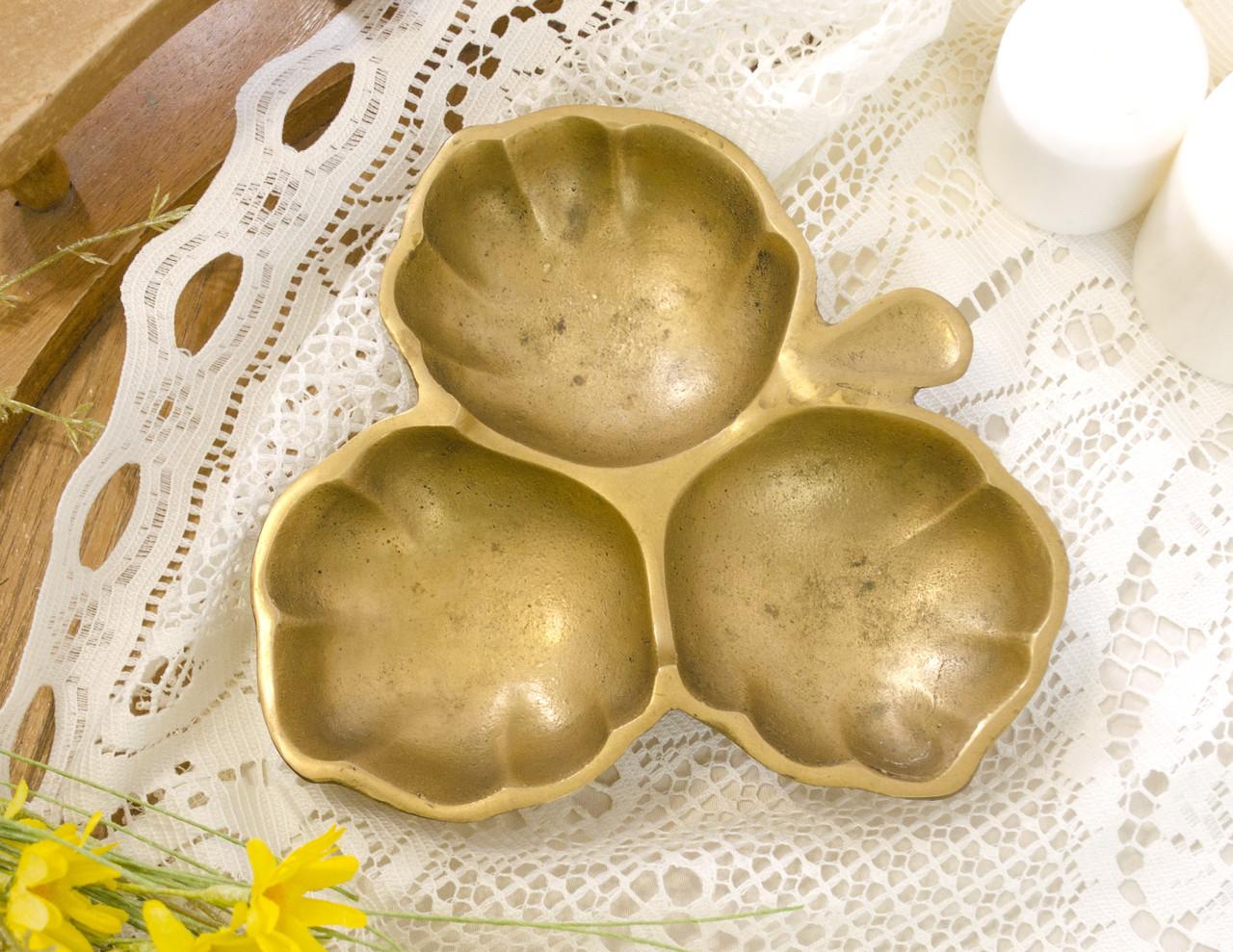 Старая бронзовая менажница, конфетница, ваза для орехов, бронза, Германия