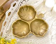 Старая бронзовая менажница, конфетница, ваза для орехов, бронза, Германия, фото 1