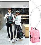 Школьный городской Рюкзак со светящимся мальчиком + подарок сумка и пенал!  Код 15-6790, фото 10