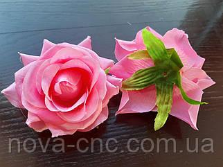 Роза без хвостика, тканевая ярко розовый 7 см 15 шт в упаковке