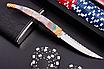 Нож сувенирный складной  для подарка. Рукоять - перламутровая ракушка натуральная., фото 6