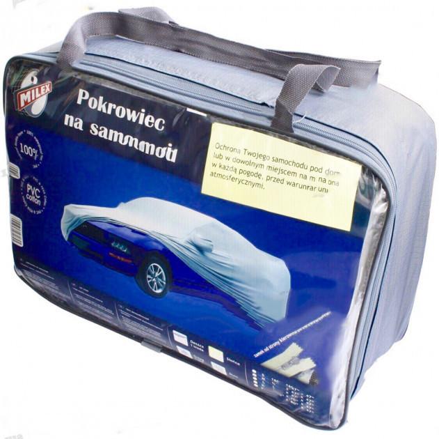 Тент на легковое авто MILEX PEVA + PP размер XL (на основе / с карманом под зеркало / замок на двери) Milex