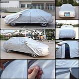 Тент на легковое авто MILEX PEVA + PP размер XL (на основе / с карманом под зеркало / замок на двери) Milex, фото 9