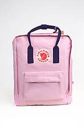 Городской рюкзак Fjallraven Kanken Classic 16 л, розово-синий