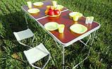 Стол Складной Для Пикника + 4 стульчика, фото 4