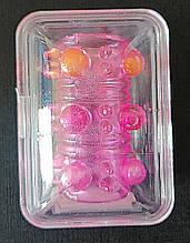 """Насадка тунель з кульками на пеніс """"BI-010045Q Pink"""" від Baile"""