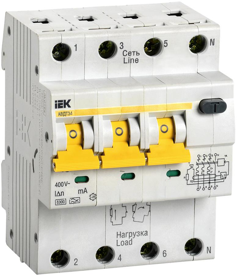 Автоматический выключатель дифференциального тока АВДТ34 C32  30мА IEK (MAD22-6-032-C-30)