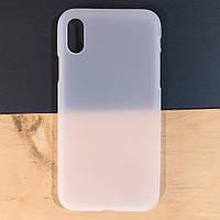 Чехол силиконовый для Apple iPhone X / XS белый