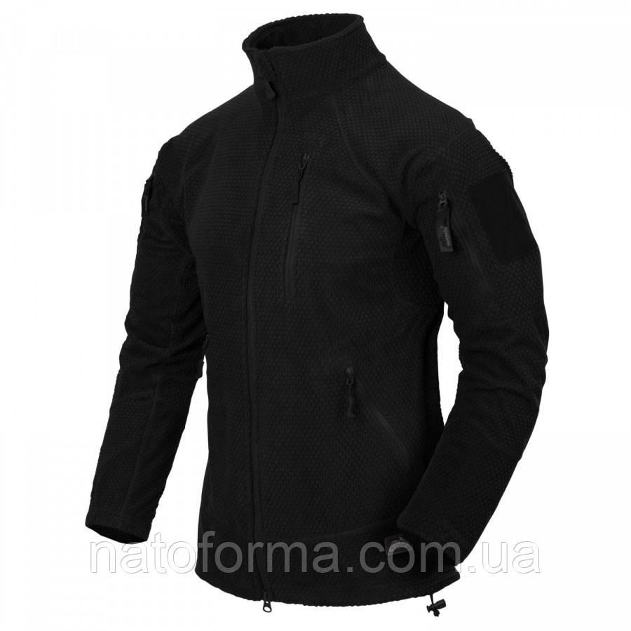 Тактическая флисовая куртка Helikon-Tex Alpha Tactical Grid Fleece, Black