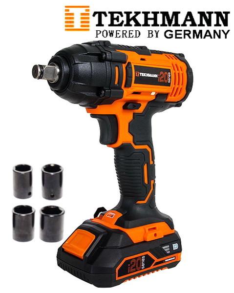 Гайковерт аккумуляторный ударный Tekhmann TIW-300/i20 Kit (Бесплатная доставка)