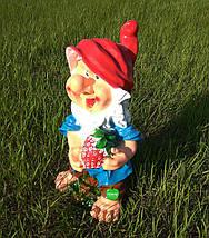 Садова фігура Гном з полуницею великий, фото 2