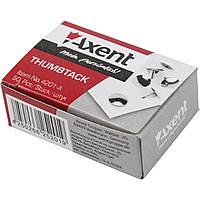 "Кнопки ""Axent"" №4201 (50шт) нікел.(20)(1000)"